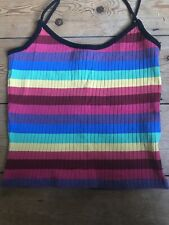 Top Shop Strappy Rainbow Vest Top Size 10 Ladies Girls Teen