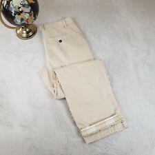 Rosasen Mens Luxury Khaki Casual Pants Golf Dress #19247 Beige Sz 34