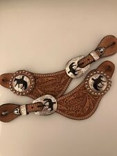 Western Spur Straps Engraved And With Silver