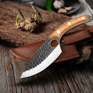 Serbian Forged Butcher Knife German Stainless Steel Boning kitchen chef Knife