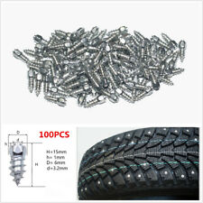 100x 15mm Screw in Tire Stud Snow Spikes Wheel Tyres Snow Chains Studs Car Truck