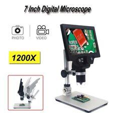 Digital Microscope 1-1200X 7 Inch 1080P Video Endoscope Magnifier Amplification