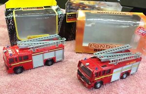 """Lledo """"London's Burning"""" and ELC Volvo fire engines"""