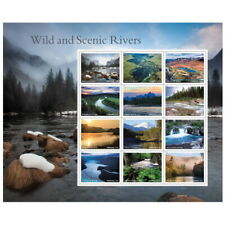 US NATURE SCOTT 5381 AMERICA'S WILD AND SCENIC RIVERS 12 MVF FOREVER STAMP SHEET