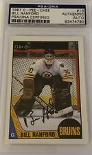 1987 1988 OPC Bill Ranford AUTO PSA DNA RC ROOKIE #13 AUTOGRAPH Oilers Bruins