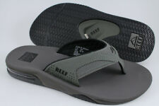REEF FANNING GRAY/BLACK FLIP FLOPS THONG SANDALS BEACH MICK GREY US MEN SIZES