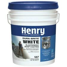 Henry Elastomeric Roof Coating 4.75 Gal. 587 100% Acrylic Dura-Brite White