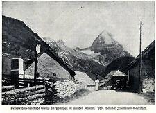 Österreich-italienische Grenze am Predilpaß im südlichen Kärnten 1915