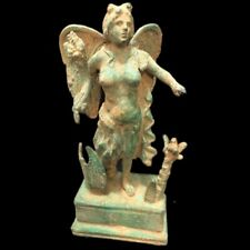 ANCIENT ROMAN BRONZE PERIOD STATUE ON STAND  - 200-400 AD (6)