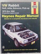 Haynes Repair Manual VW Rabbit Golf Jetta (gas) Scirocco 1975 thru 1992