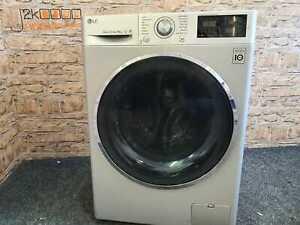 Silver LG Turbo Wash 9kg 1400 Spin Direct Drive Washing Machine