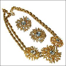 Vintage Kenneth J Lane K.J.L. for Avon Gold tone Necklace & Clip Earrings set