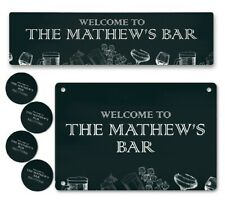 More details for personalised any name bar runner sign coaster garden plaque gift bar pub 189