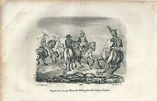 1846 NAPOLEONE INSIGNì MENENTI DELL'AQUILA LEGION D'ONORE litografia Napoleone