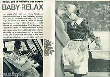 PUBLICITE ADVERTISING 115  1964  BABY-RELAX   sièges lits pliants bébé ( 4p)