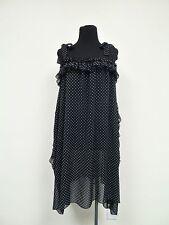D&G Black Polka Dots Dress sz. 42