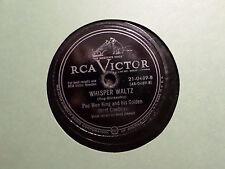 RCA VICTOR 78 RECORD 0489 / PEE WEE KING /SLOW POKE/WHISPER WALTZ/  VG
