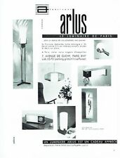 PUBLICITE ADVERTISING 037  1963   Luminaires  Arlus  lampe réveil suspension