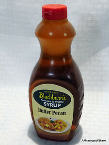 Blackburn's BUTTER PECAN Syrup for Waffles, Pancakes 24-oz NEW