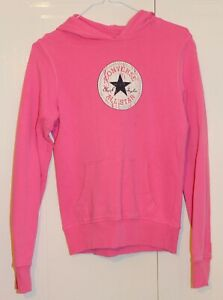Converse Girls Graphic Pink Hoodie Age 12-14 Years 158-164