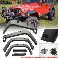 Fits 97-06 Jeep Wrangler TJ Sport Utility Pocket Rivet Style Wide Fender Flares