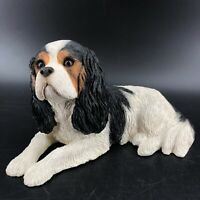 "Vtg Cavalier King Charles Spaniel Dog Figurine 10"" Sandicast by Sandra Brue"