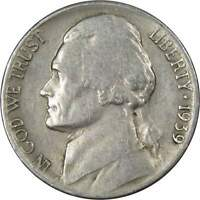 1939 S 5c Jefferson Nickel US Coin Average Circulated