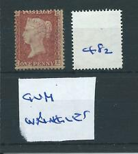 wbc. -  GB - QUEEN VICTORIA - QV482 - 1d  - penny red  - MOUNTED MINT
