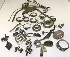 Sterling Silver Scrap Lot of Jewelry Pieces (62g)