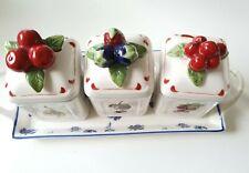 "Villeroy&Boch jam jar sets with tray ""Cottage Charm"""