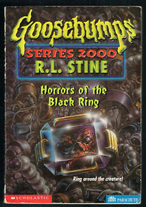 SERIES 2000, GOOSEBUMPS, HORRORS OF THE BLACK RING #18, 1st edition USA.VGC.