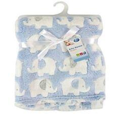 CHILD TODDLER BLUE BLANKET FLEECE Soft Warm bed travelling 95x70cm washable