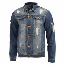 Mens Jacket Loyalty & Faith Ripped Distressed Classic Western Denim Jean Jackets