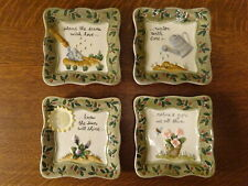 New listing MWW Market Nature's Gifts Flower Gardening Mini Plates Set of 4