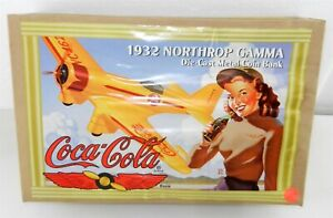 ERTL COCA-COLA 1:43 Scale Die Cast ~ 1932 NORTHROP GAMMA COIN BANK ~ T203