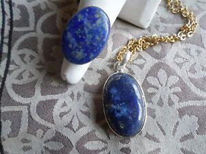 Lapiz Lazuli Pendant and Ring