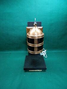 Vintage Restored Copper Arts And Crafts Sconce Amber Lens