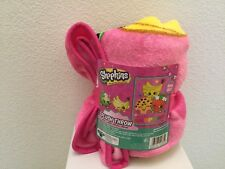 "Color Me Shopkins Silky Soft Plush Throw Blanket 46"" X 60"" New"