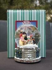 Nib San Francisco Music Box Snow Globe Good Tidings To You Tune Wish You A Merry