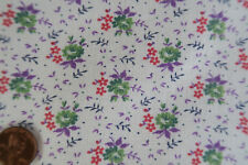 ONE VINTAGE FEEDSACK TINY PETITE FLOWERS  37 x 43  PRISTINE!