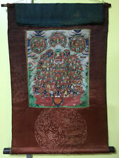 Mongolian ANTIQUE Buddhist OLD THANGKA PAINT 18c-19c (RARE)