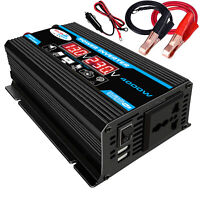 4000W LCD DC 12V To AC 220V Car Solar Power Inverters Converter Charger 2