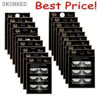 Wholesale 3 Pairs Makeup 3D Soft Handmade Thick Long Cross False Fake Eyelashes