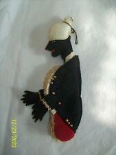 Vintage Black Americana Ornament ? Felt Butler Detailed Bottle Topper? UNIQUE