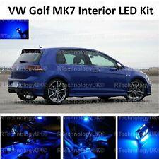 BLUE PREMIUM VW GOLF MK7 MKVII GTI 12-19 INTERIOR FULL LED BULBS LIGHT KIT SET