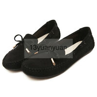 Women's Driving Car Moccasins Suede Leather Loafers Shoes comfortable flats Plus