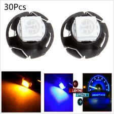 30X T4.7 Neo Wedge 5050 SMD LED Car Panel Gauges Lamp Climate Control Light Bulb