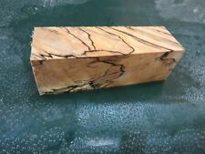 MM-SPALTED  MAPLE  DELUXE  KNIFE BLOCK/SCALES/ CALLS/ PEN BLANKS--M--36