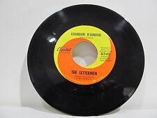 """45 RECORD 7"""" SINGLE - THE LETTERMEN- CHANSON D'AMOUR"""