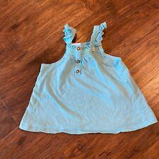 Zara Baby Girls Blue/turquoise Tank Top 6-9 Months (N)